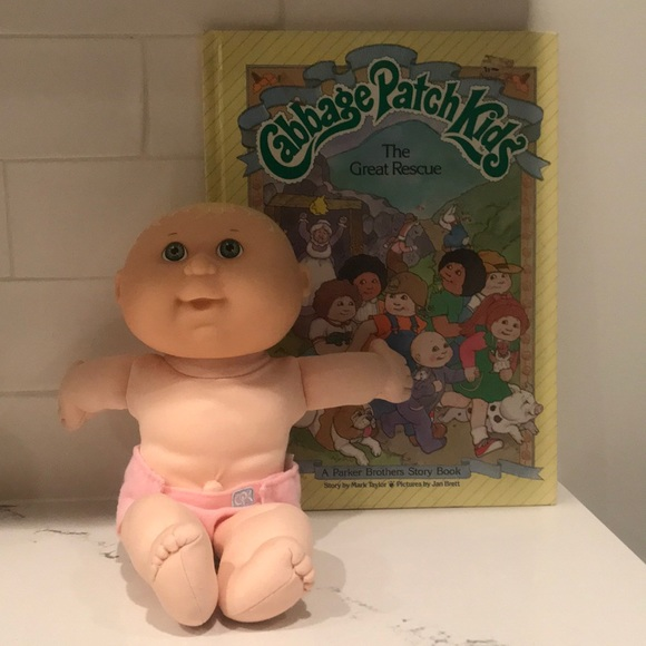 Vintage Cabbage Patch Doll & Book